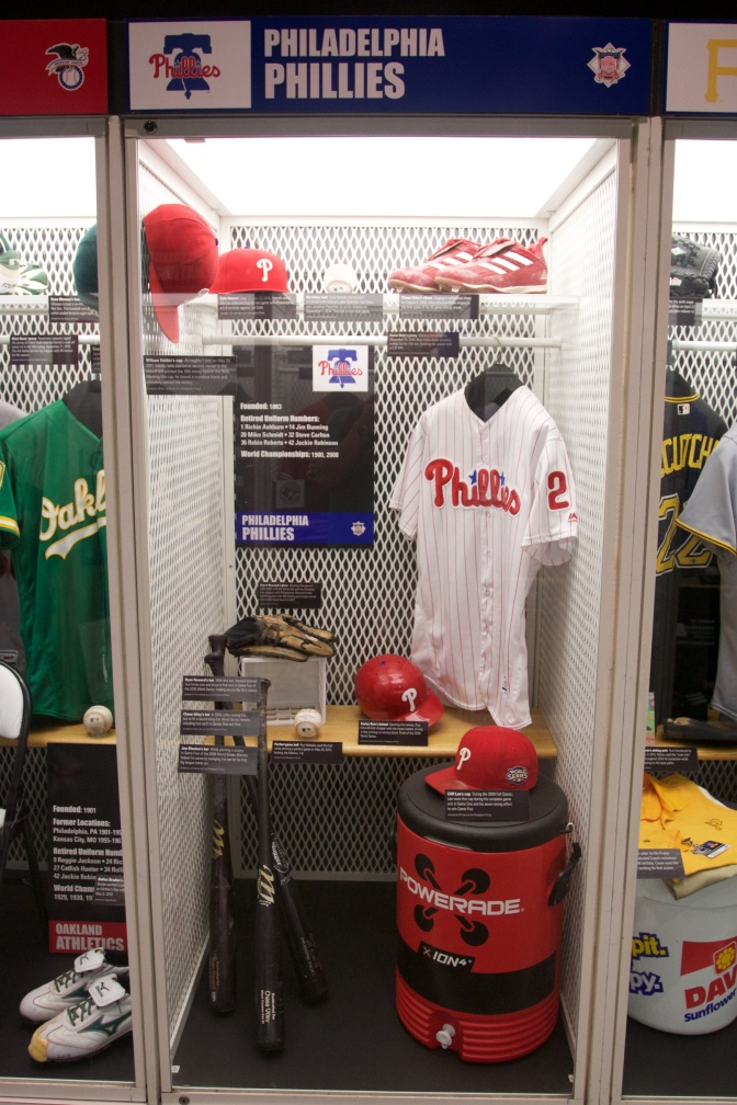Locker of equipment from Philadelphia Phillies.