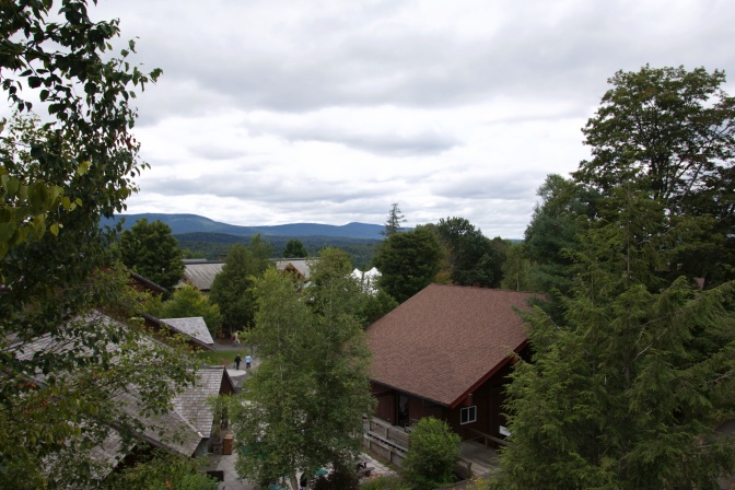 View of Adirondack Experience park from top of fire tower.