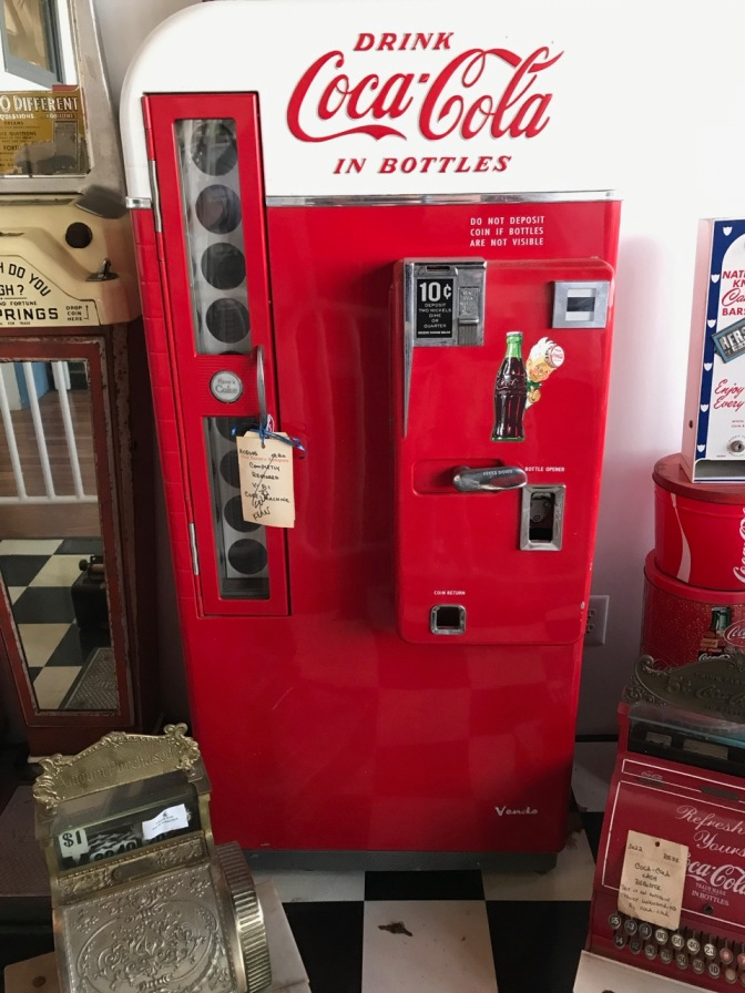 1940s-era Coca Cola vending machine.
