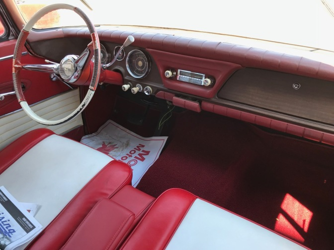 Interior of Studebaker Daytona.