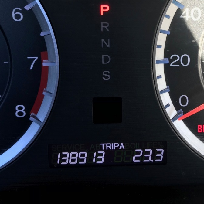 Car odometer that reads 138913
