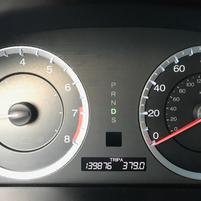 Car odometer that reads 139876 TRIP A 379.0