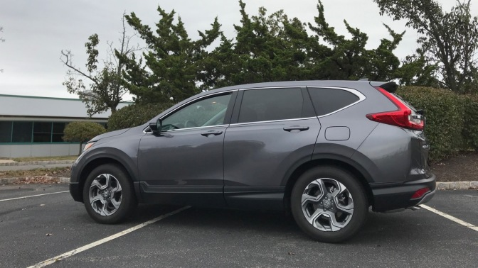 2019 Honda CR-V in gray.