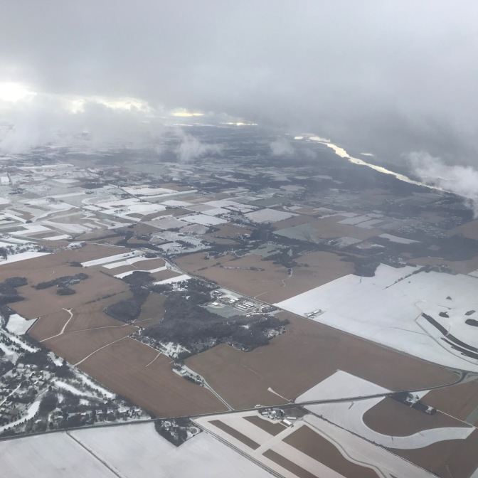 View of Minnesota landscape, covered in frost.
