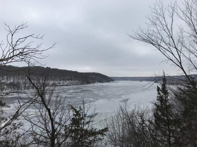 View of St. Croix River from Boom Site.