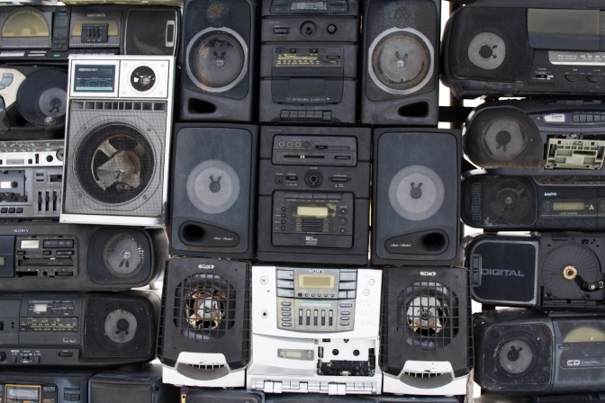 Series of AM/FM/Tape boom boxes.