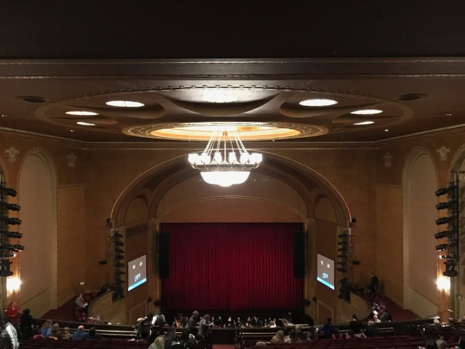 Interior of the theater.