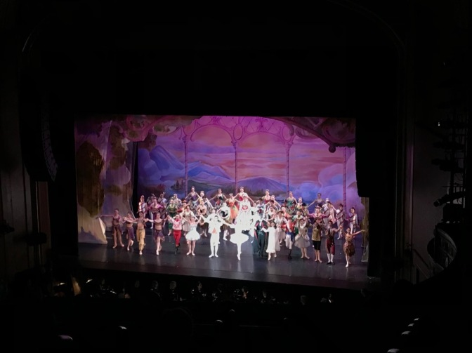 Cast of The Nutcracker taking their bows at the end of the show.