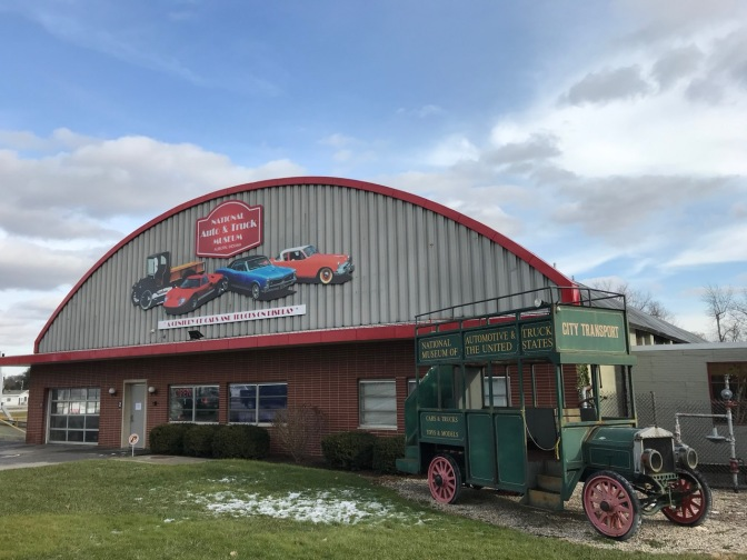 Exterior of National Auto and Truck Museum.