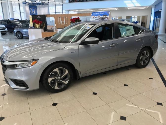 2020 Honda Insight sedan in silver.