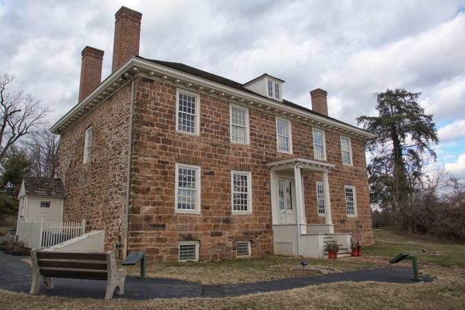 Exterior of Cornelius Low House.