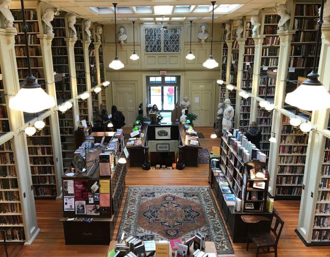 View of Providence Athenaeum interior.