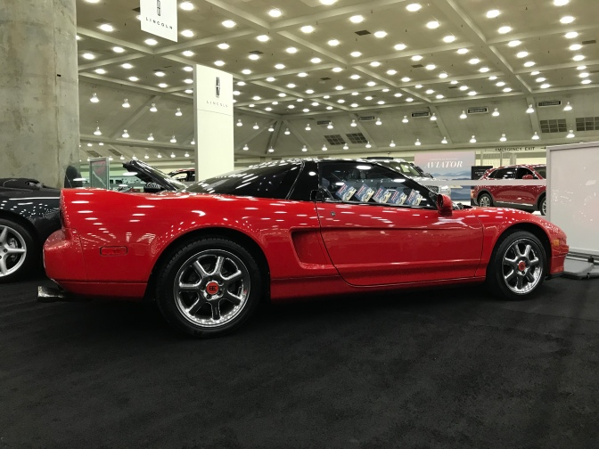 Red Acura NSX.