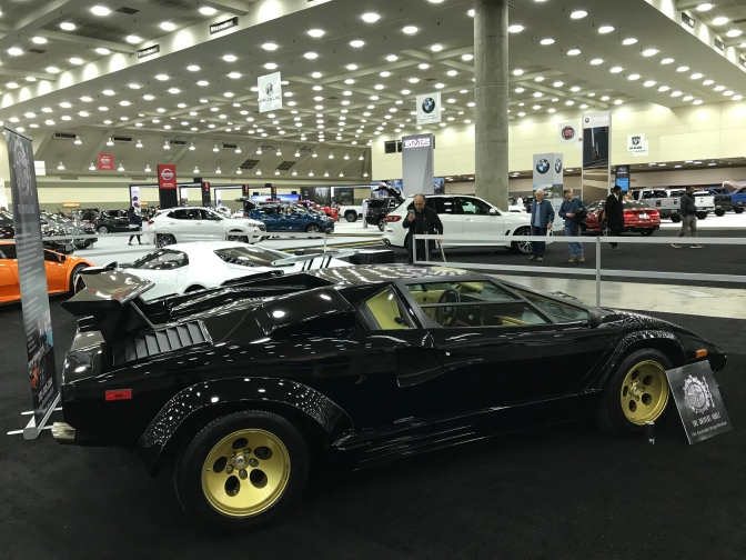 Black Lamborghini Countach.