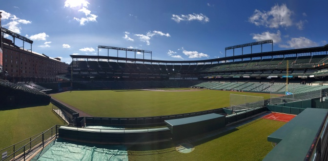 Panorama of Camden Yards.