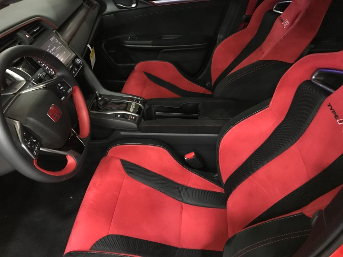 Interior of Honda Civic Type R.