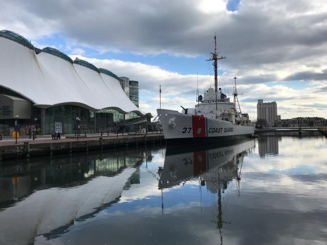 USCGC Taney, docked along pier.
