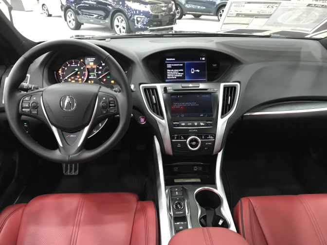 Interior of Acura TLX.