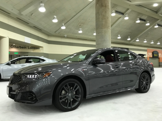 2020 Acura TLX, in gray.