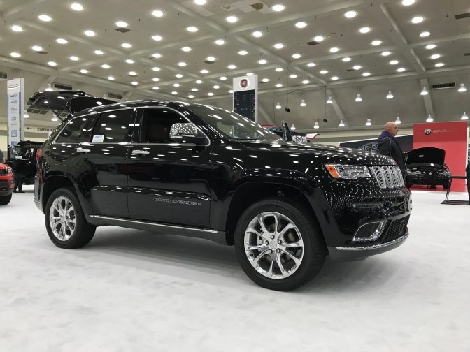 Black Jeep Grand Cherokee.