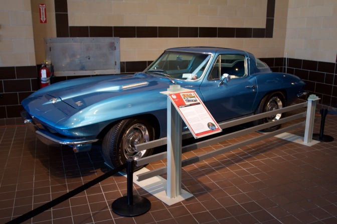 Blue 1966 Chevrolet Corvette 427 hardtop.