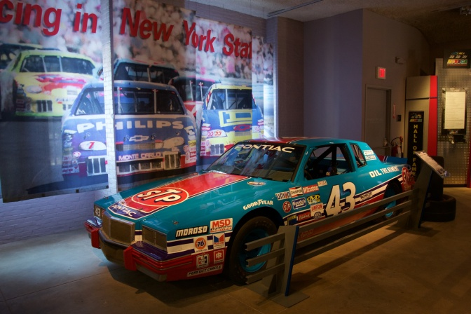 Blue #43 Pontiac of Richard Petty.