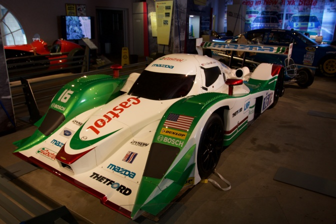 Lola B09/86 Le Mans Prototype race car, painted green and white.