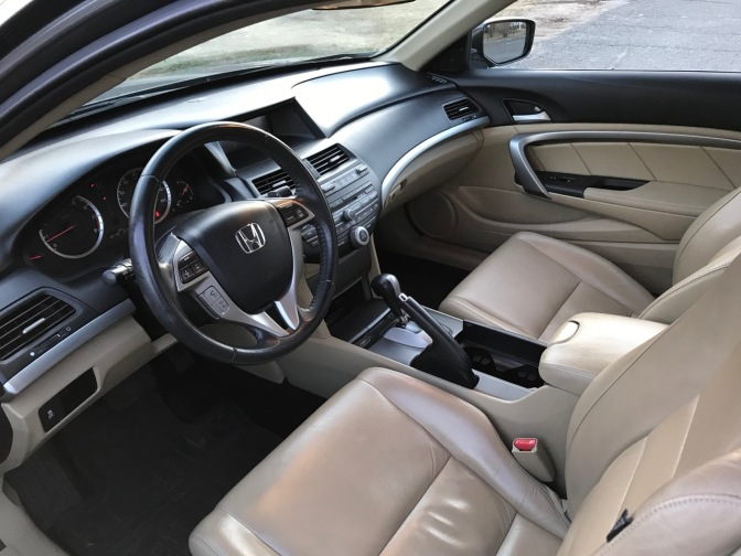 Interior of 2012 Honda Accord coupe.