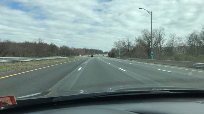 Almost empty I-287 highway.