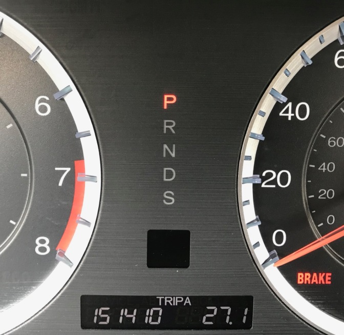 Car odometer reading 151410 TRIP A 27.1