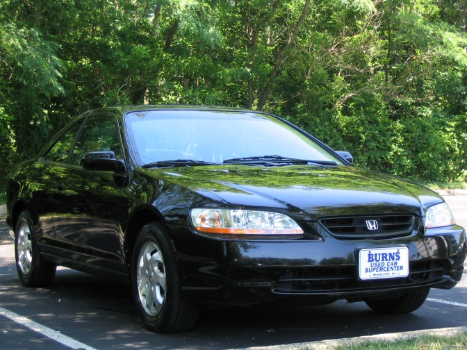 1998 Honda Accord coupe, in black.