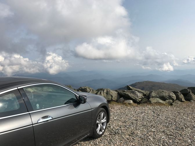 2012 Honda Accord coupe parked on lot on the top of Mt. Washington.