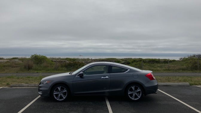2012 Honda Accord parked near ocean.