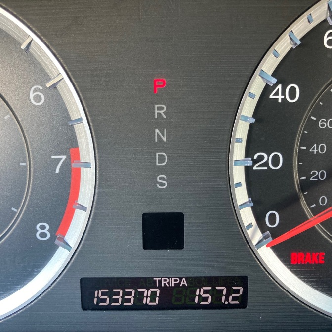 Car odometer reading 153370 TRIP A 157.2
