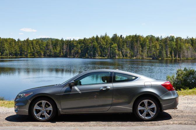 2012 Honda Accord parked in front of Quiver Ponder.