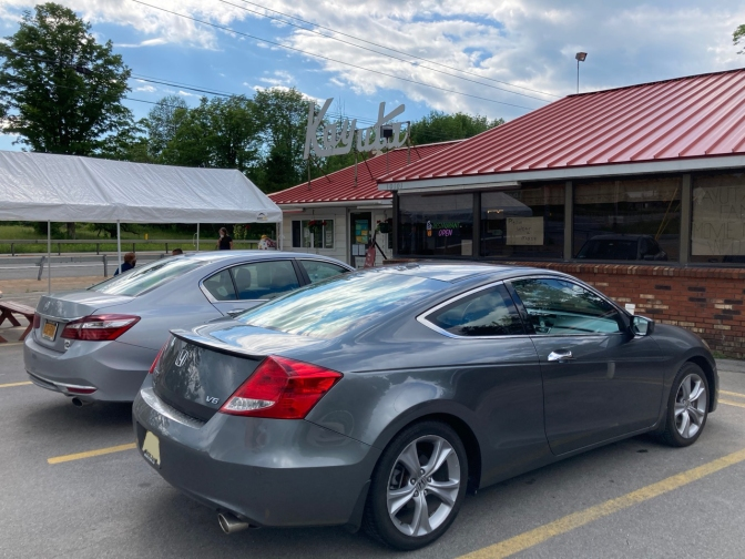 2012 Honda Accord parked in front of Kayuta Drive-In, an ice cream shop.