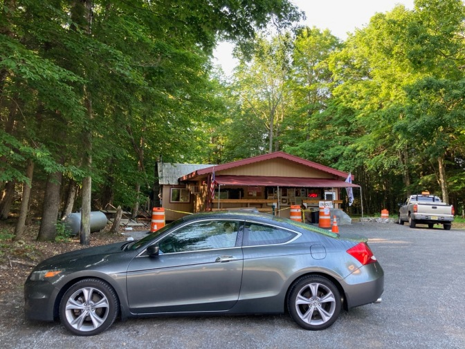 2012 Honda Accord parked in front of Eagle Bay Donuts.