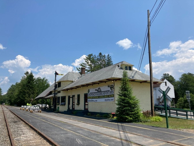 Thendara train station, with its tracks running into the distance.