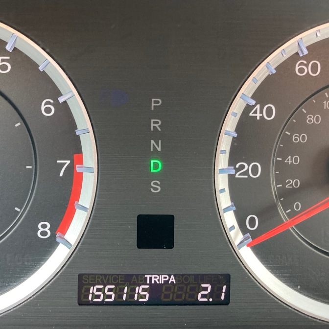 Car odometer reading 155115 TRIP A 2.1