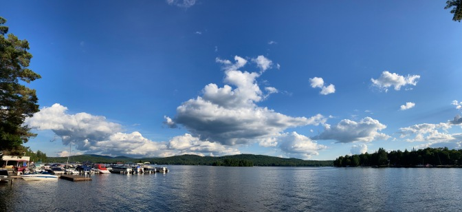 Panorama of Fourth Lake in the Adirondacks.