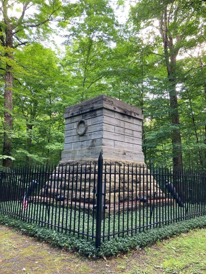 Stone Memorial marker for Steuben.