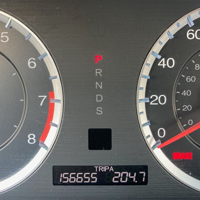 Odometer reading 156655 TRIP A 204.7