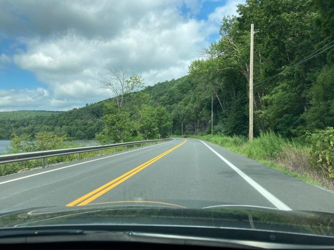 Route 97 along banks of Delaware River.