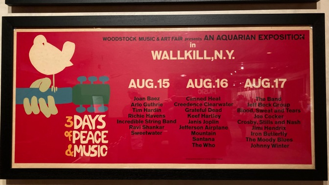 Poster for Woodstock Music & Art Fair in Wallkill, NY.