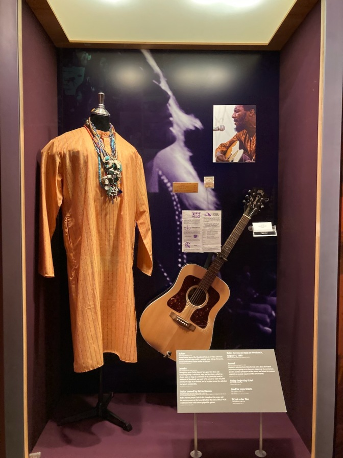 Display with guitar and costume from Richie Havens.