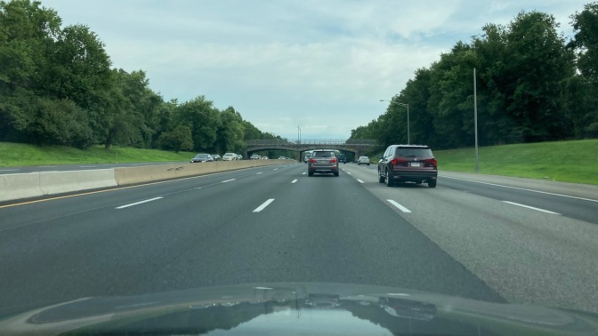 View of Garden State Parkway, northbound.