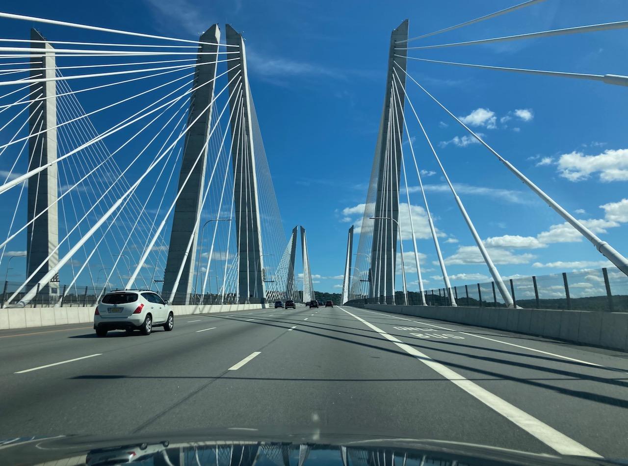 View of Mario Cuomo Bridge, eastbound.