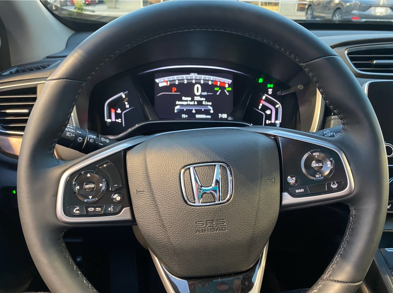 Steering Wheel and Dashboard of 2020 Honda CR-V
