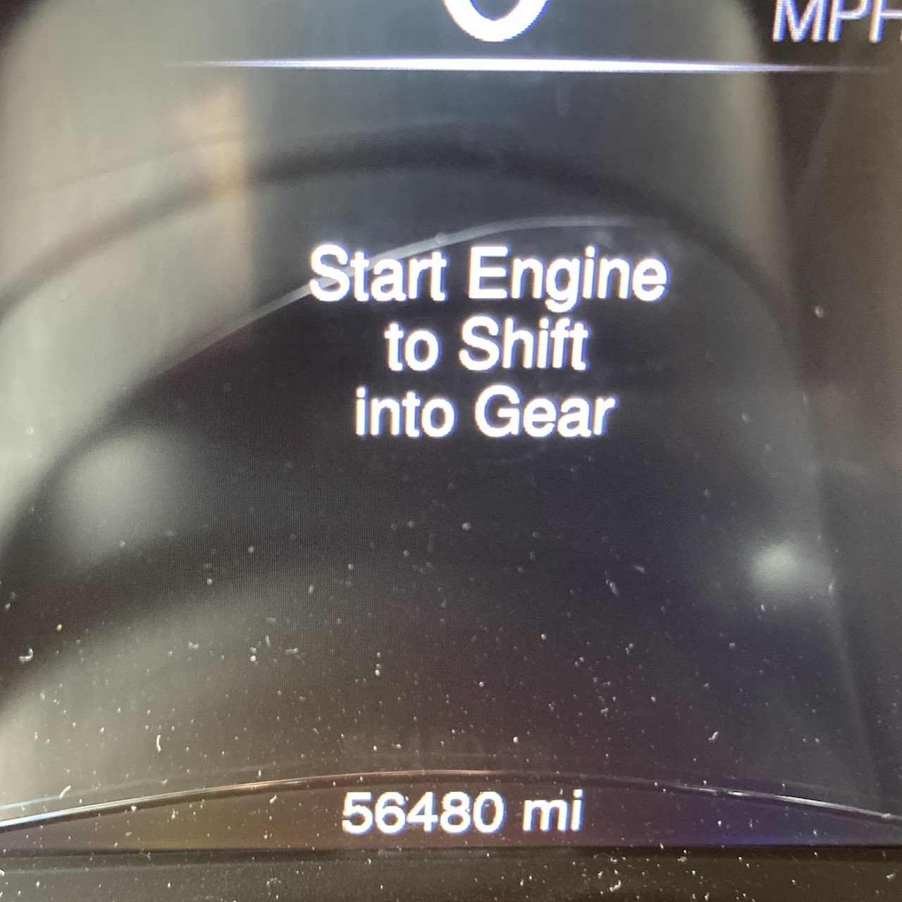 Car odometer reading 56480