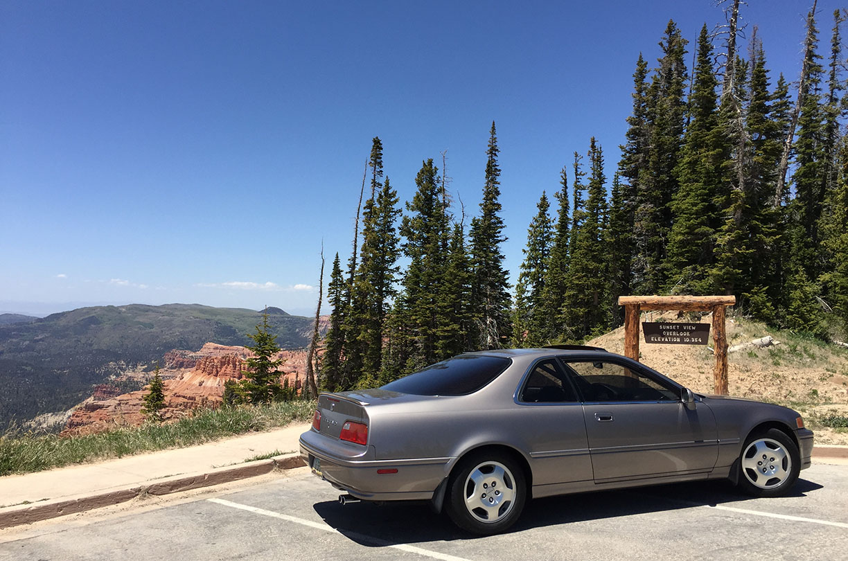 1994 Acura Legend coupe in desert mist metallic.